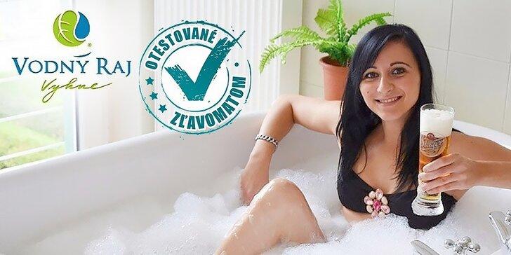Relax vo Vodnom raji Vyhne alebo relax s pivným kúpeľom