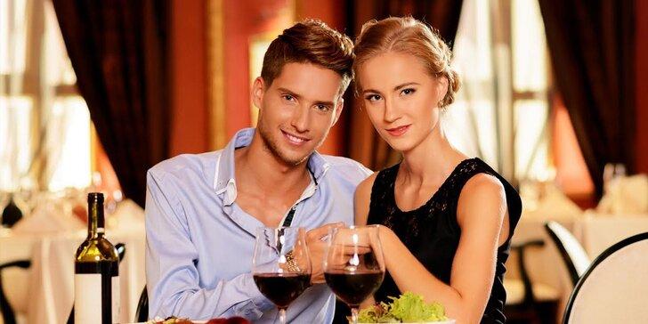 Romantická 4-chodová večera s privátnym wellness pre dvoch