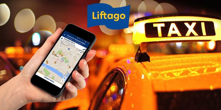 Kredit v hodnote 15 € platný na 2 jazdy taxíkom objednaným cez aplikáciu Liftago taxi