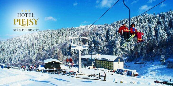 Fantastická zimná dovolenka v Hoteli Plejsy*** Wellness & Fun Resort - pobyt plný prekvapení. Aj VEĽKÁ NOC!