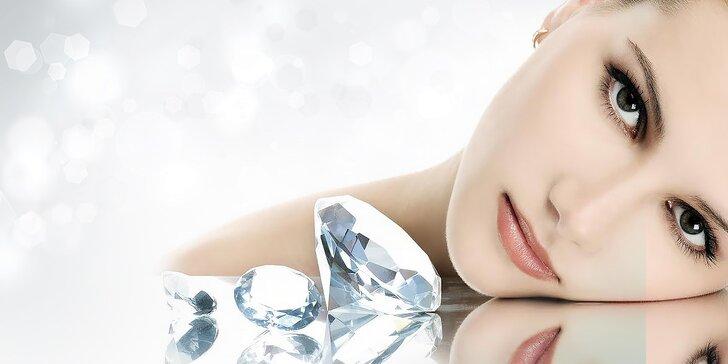 Diamantová mikrodermabrázia a ultrazvukové čistenie pleti s maskou
