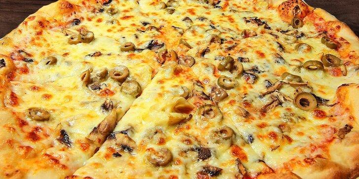 2 poriadne pizze podľa vašej chuti bez rezervácie