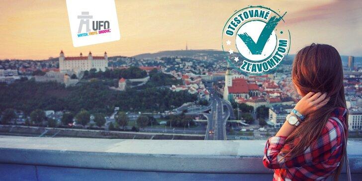 Najkrajší pohľad na Bratislavu z exkluzívnej vyhliadkovej veže UFO watch.taste.groove.