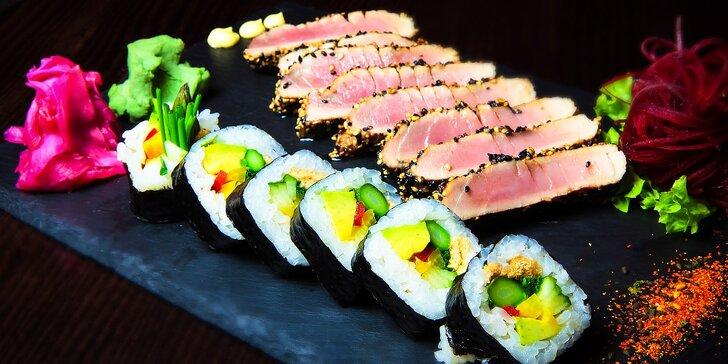 Steak z tuniaka s Yasai Roll a Cuma šalátom v EDO-KINE