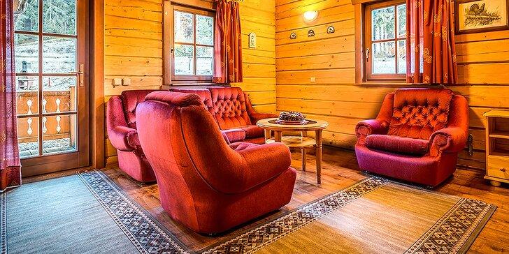 Jarný pobyt v štýlových zruboch v Jánskej doline v Nízkych Tatrách, až pre 8 osôb!