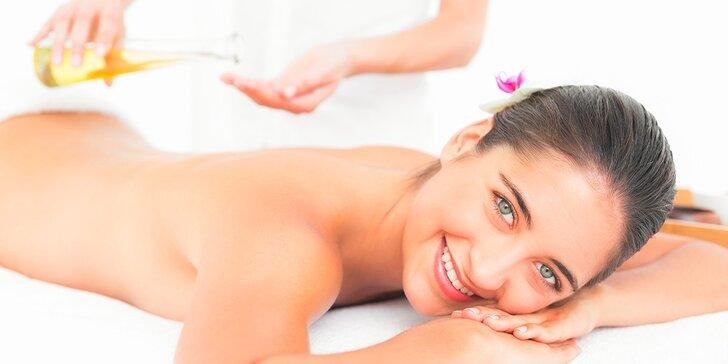Relaxačná olejová masáž celého tela alebo chrbta a šije