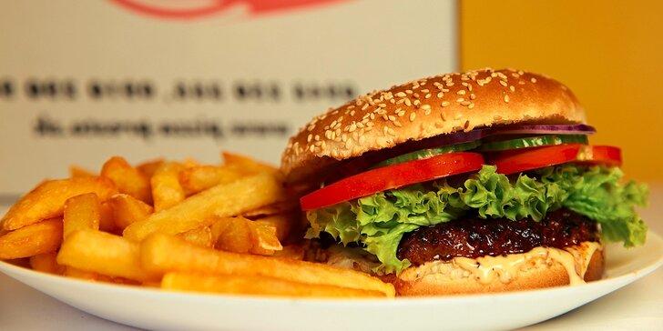 2 x Hovädzí burger s hranolčekmi na donášku