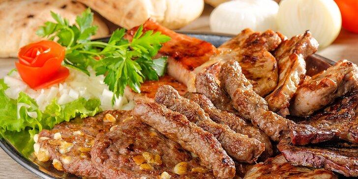 Chorvátske špeciality! Pleskavica, ražniči, čevapčiči, hranolčeky, ajvar a džuveč