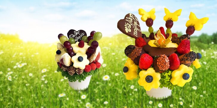 Jarné prekvapenie plné ovocia - ovocné kytice!
