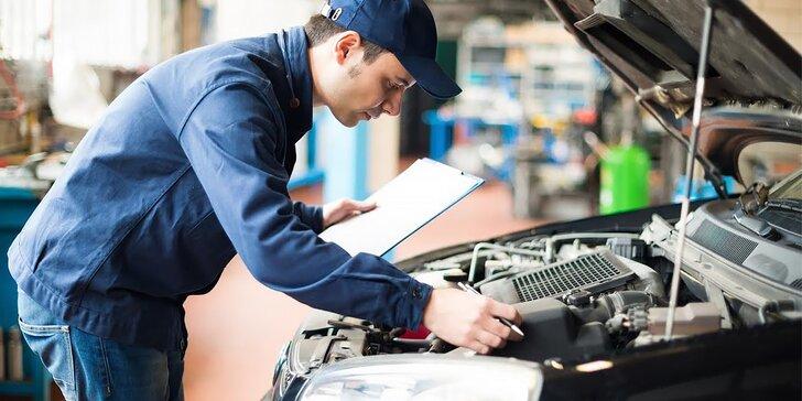 Diagnostika auta, výmena oleja a brzdového obloženia i leštenie svetlometov