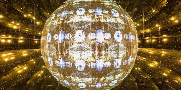 Vstupy do Imaginária, zrkadlového labyrintu a kaleidoskopického kina