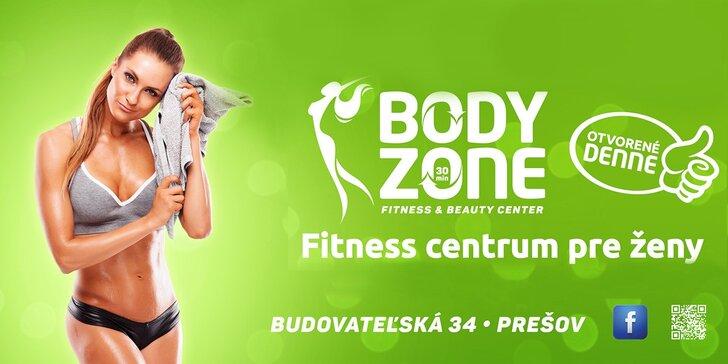 Fitness centrum BODY ZONE pre ženy. Zvýhodnené vstupy a permanentky!