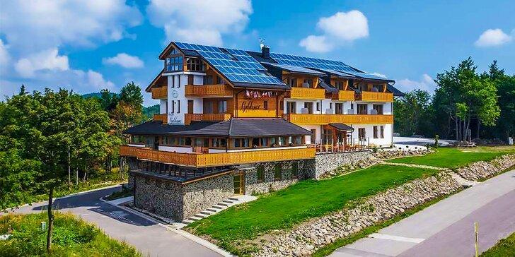 Letný pobyt s wellness v novom špičkovom penzióne Guldiner*** na hrebeni Kremnických vrchov. Jedno dieťa do 12 r. zadarmo!