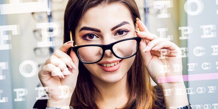 Vyšetrenie zraku + zľava na rámy