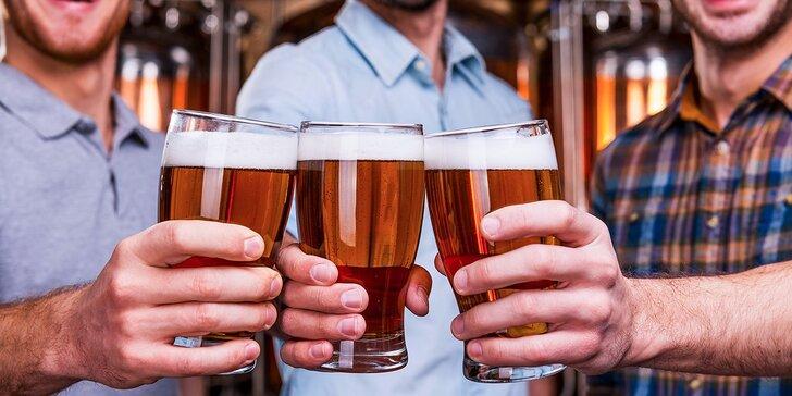 3 veľké svetlé čapované pivá Poutník 10° za cenu dvoch! Sledujte Majstrovstvá!