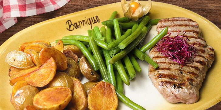 2-chodové menu s hovädzím steakom v Barrique reštaurácii