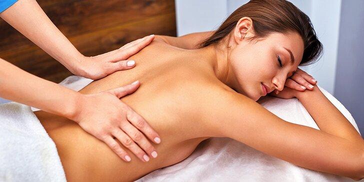 Klasická alebo relaxačná masáž chrbta a šije v salóne InBody