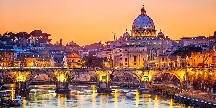 Výlet do čarovného Ríma a Vatikánu, 5-dňový poznávací zájazd so sprievodcom, ubytovaním a raňajkami