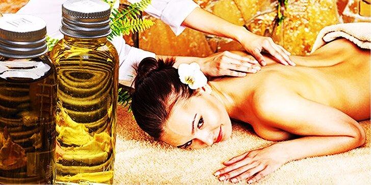 Thajské masáže: aroma therapy, foot & back alebo back special