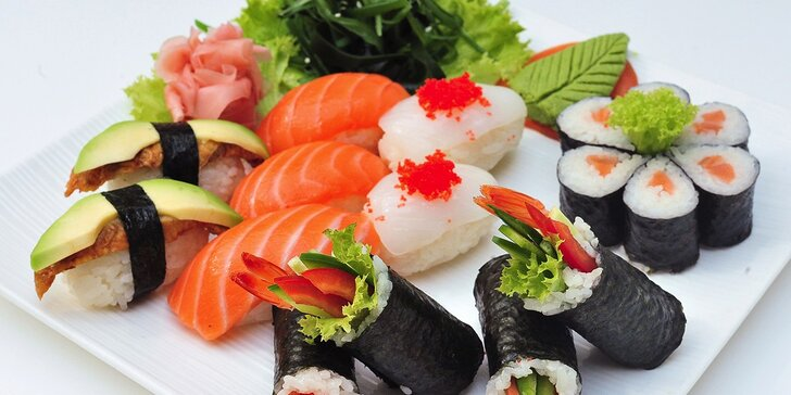 Sushi menu pre 1 alebo 2 osoby v Sushi bare Sunshine v Auparku
