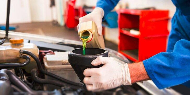 Výmena oleja a filtra, kontrola podvozku, diagnostika motora a dezinfekcia klimatizácie vo VectorRider