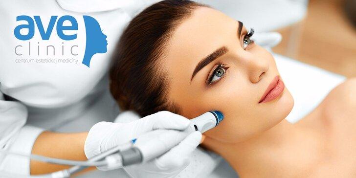 Ošetrenie HydraFacial® s Omniluxom® a hĺbkové čistenie lekárskou kozmetikou Medik 8