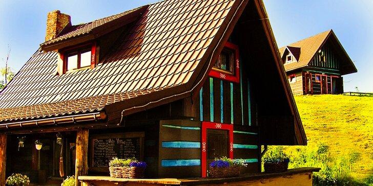 Letný pobyt v goralskom štýle v novootvorenej chate BABA YAGA s gurmánskou večerou pod hviezdami v Belianskych Tatrách vo výške 1140 m.n.m.