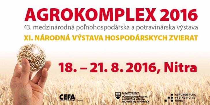 Vstupenka na výstavu AGROKOMPLEX 2016