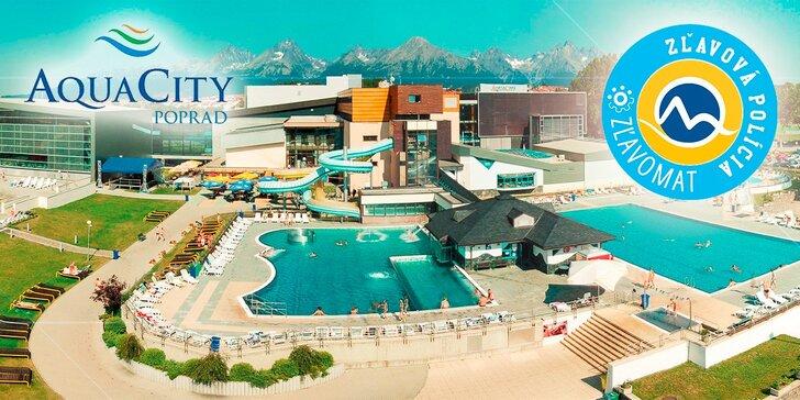 Celodenný relax v Aquaparku AquaCity Poprad alebo Wellness centre – Fire & Water Wellness & Spa
