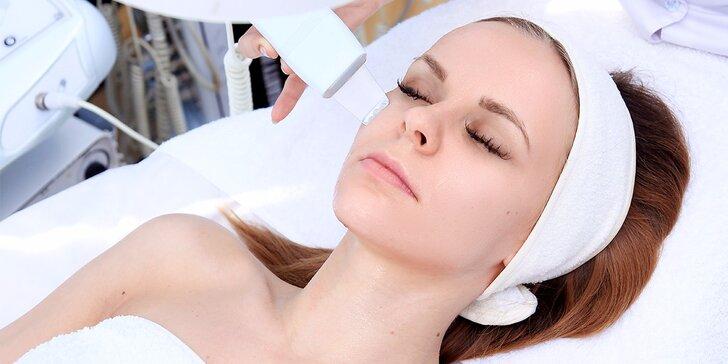 Profesionálne kozmetické ošetrenie: ultrazvukové čistenie + maska + galvanizácia + kyselina hyalurónová