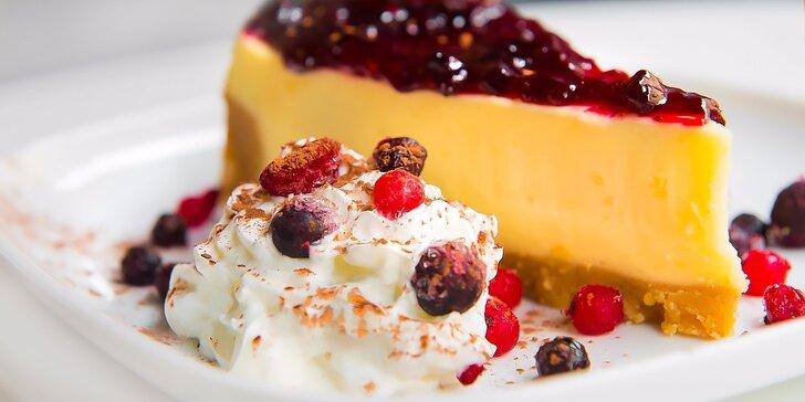 American cheesecake s džemom a kávou