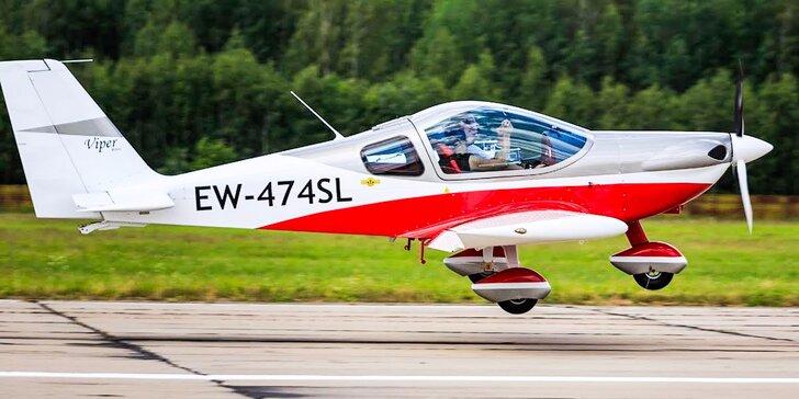 Prelet nad Bratislavou, Košicami či Prešovom s možnosťou pilotovania