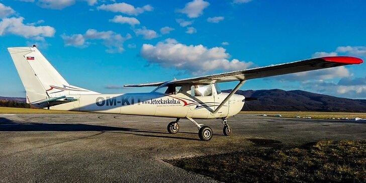 Splňte si sny, naučte sa lietať! Pilotovanie lietadla Cesna 150 pre malých aj veľkých!