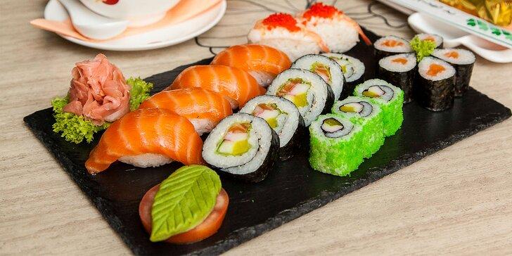SUSHI menu alebo ázijské menu pre 2 osoby v ázijskej reštaurácii Avion Sunshine