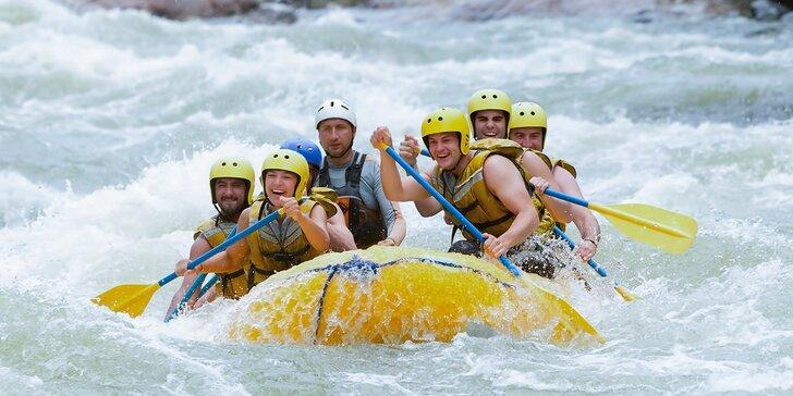 Rafting na umelom vodnom kanáli v Liptovskom Mikuláši s videozáznamom