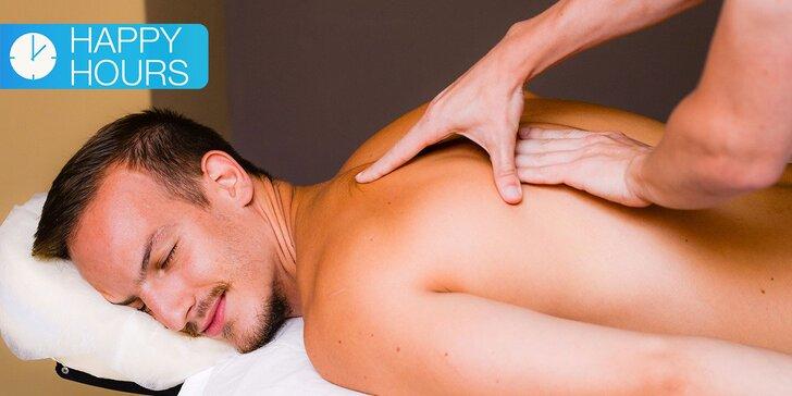 Exkluzívna ponuka masáží za super cenu medzi 8:00-14:00! Vyberte si tú svoju a relaxujte