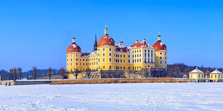 Advent v Drážďanoch, zámok Zwinger a Popoluškin zámok
