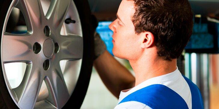 Výmena alebo prezúvanie kolies s kontrolou vozidla