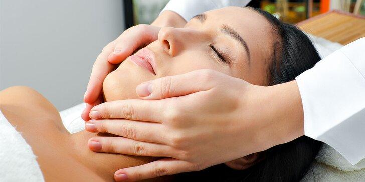 Hĺbkové čistenie pleti ultrazvukom, mikromasáž očného okolia kyselinou hyalurónovou alebo antistresová masáž tváre a dekoltu