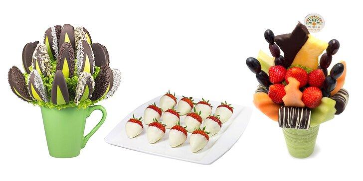 Jesenné maškrty – ovocné kytice!