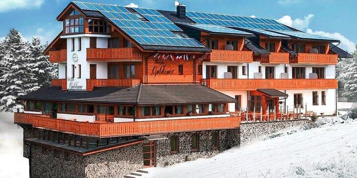 Špičková zimná dovolenka s wellness v novom penzióne GULDINER*** v pohorí Kremnických vrchov vo výške 1205 m n. m. Jedno dieťa do 12 r. zadarmo!
