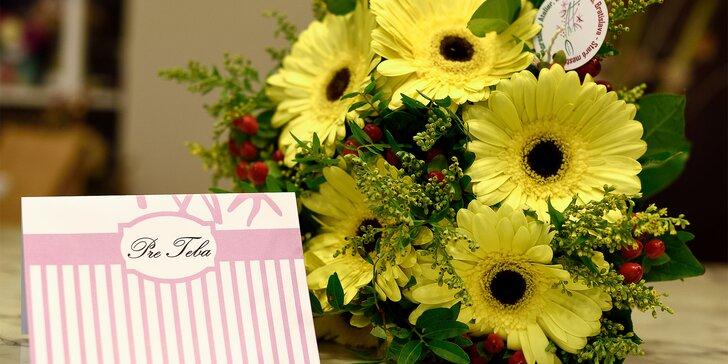 Donáška kvetov! Prekrásne viazané kytice aj s vlastným prianím