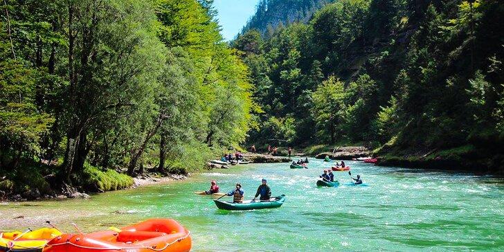 Dvojdňový dobrodružný rafting v rakúskych Alpách na rieke Salza