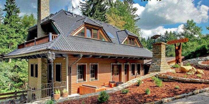 Prepychový pobyt v Beskydách v luxusne vybavených chatách s wellness až pre 10 osôb