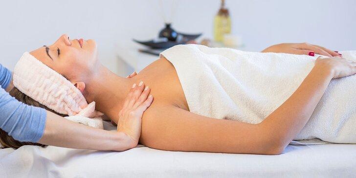 Klasická relaxačná masáž chrbta, chodidiel alebo celého tela pre dámy