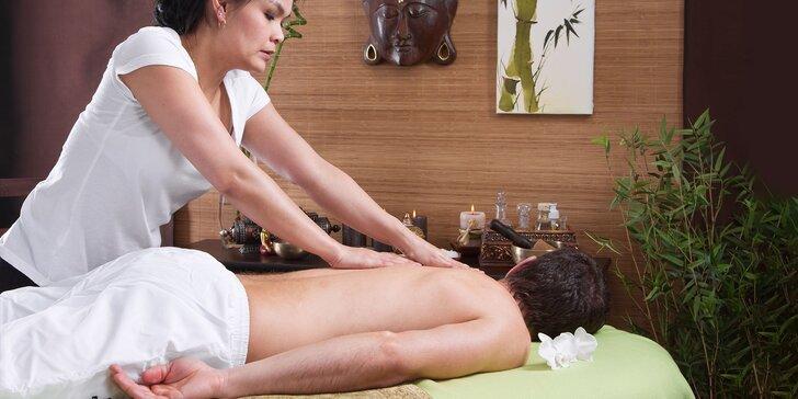 Thajské masáže: tradičná, aroma therapy, foot & back alebo aroma coconut. Vhodné ako darček, aj pre páry!