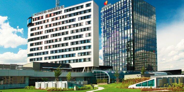 Romantický a luxusný wellness pobyt v Lindner Hoteli Gallery Central Bratislava**** s panoramatickým výhľadom z 13 poschodia Outlook Baru