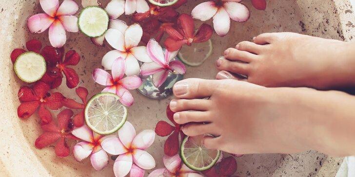 Mokrá pedikúra alebo wellness pedikúra pre dámy a pánov