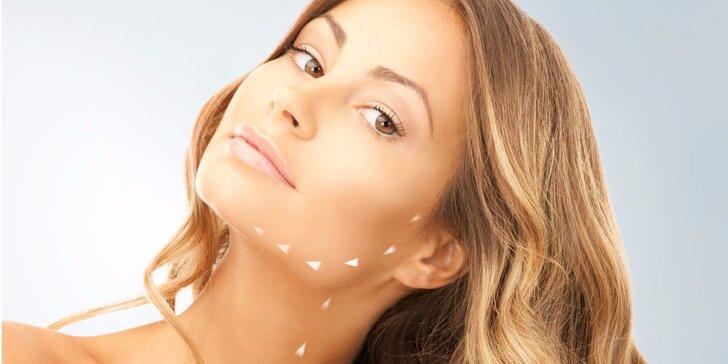 Rádiofrekvencia tváre, krku a dekoltu alebo mikrodermabrázia s upokojujúcou maskou