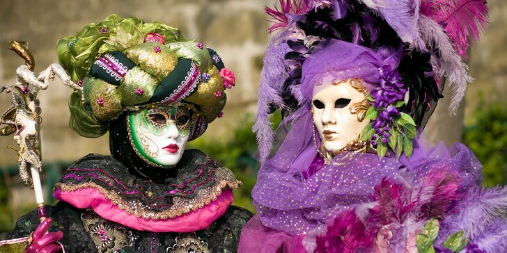 Vyberte sa na Benátsky karneval, pohodlne z nástupných miest z celého Slovenska – užite si jedinečné Benátky aj ostrovy Muráno a Buráno. V ponuke aj Valentínsky termín